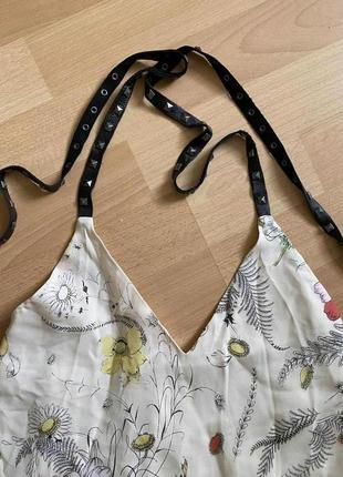 Шёлковая блузка с кожаными вставками zara
