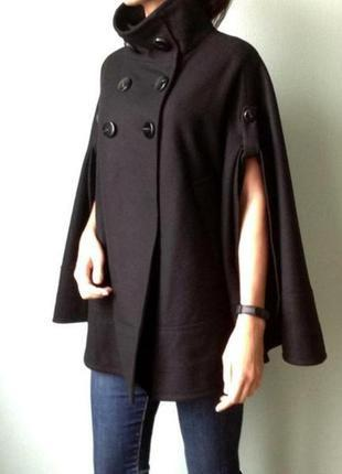 H&m шикарный кейп пальто шерсть
