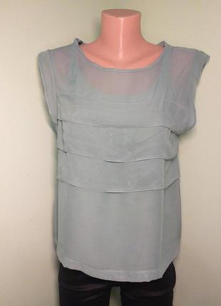 Сірозелена блузка