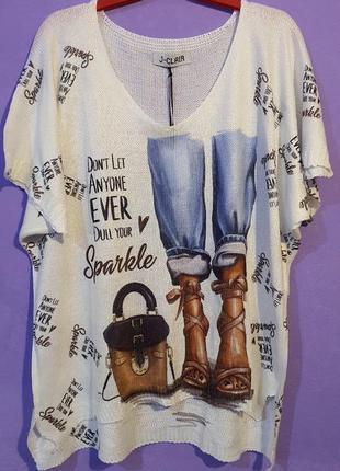 Блуза, италия, размер универсальный.