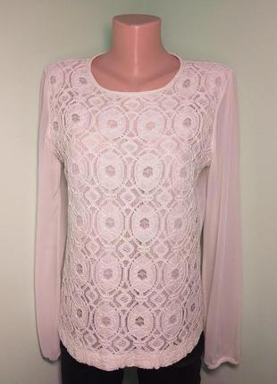 Кремова блуза з гіпюром