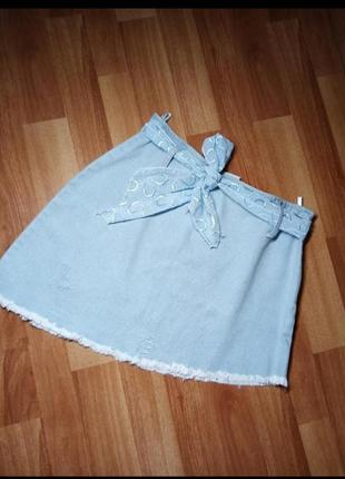 Юбка джинсовая , спідниця
