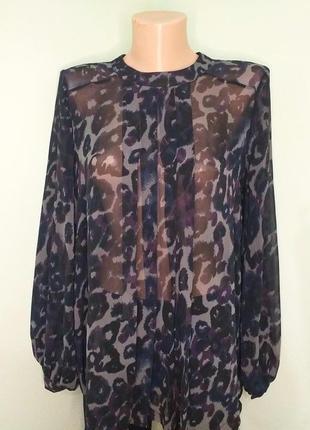 Которова блуза з плесировкою