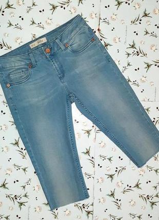 🎁1+1=3 крутые узкие удлиненные джинсовые мужские шорты topshop, размер 42 - 44