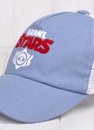Бейсболка кепка для мальчика от 6 лет brawl stars 53 54 55