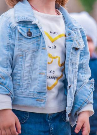 Детская джинсовая куртка  ветровка
