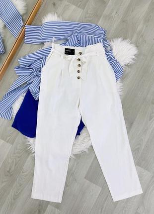 Штани new look білі !