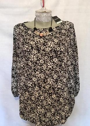 💝💝💝 george стильная блуза с бусами