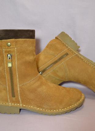"""Р40 """"pier one"""",германия, 100% натуральная кожа! утеплённые качественные сапоги ботинки"""
