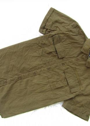 Стильная рубашка с коротким рукавом милитари primark