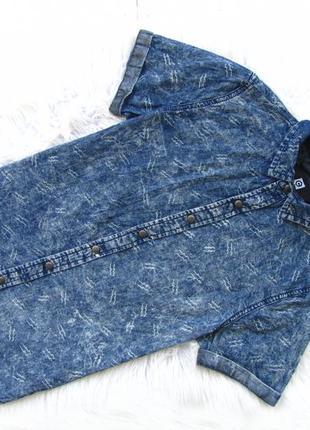 Стильная джинсовая рубашка с коротким рукавом coolcat