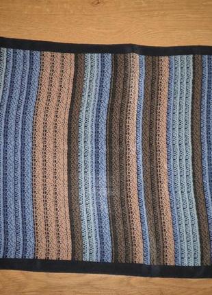 Яркий качественный шарф плотный шёлк креп де шин 155х34см шов роуль италия