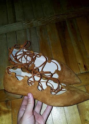 Полностью кожаные балетки туфли босоножки римлянки avant premiale италия