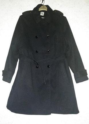 Шикарное теплое пальто под поясок/18/52-54 размера