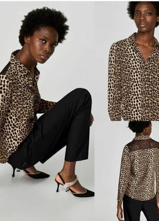 Фирменная рубашка в леопардовый принт