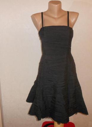 Уценка! роскошное черное платье c пышной юбкой, р.38, s-m