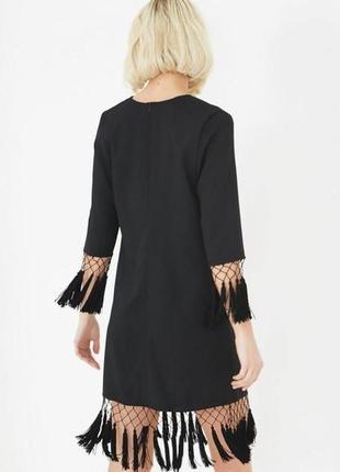 Оригинальное платье с кисточками прямого кроя lavish alice ms408 asos