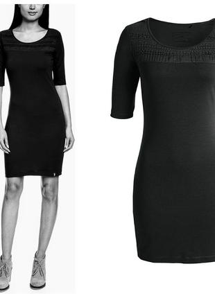 Esprit прекрасное базовое платье с вискозой, р.s-m