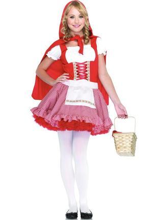 Красная шапочка 44-48 костюм карнавальный с плащом