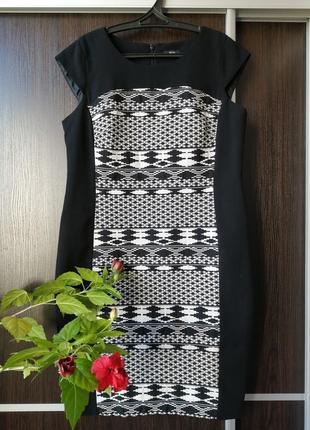Шикарное, силуэтное платье орнамент от f&f. натуральный состав
