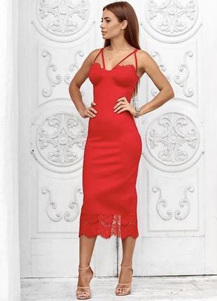 Платье красное елена покалицына