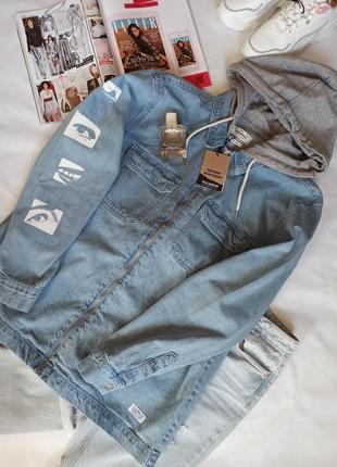 Стильная джинсовая куртка pull&bear
