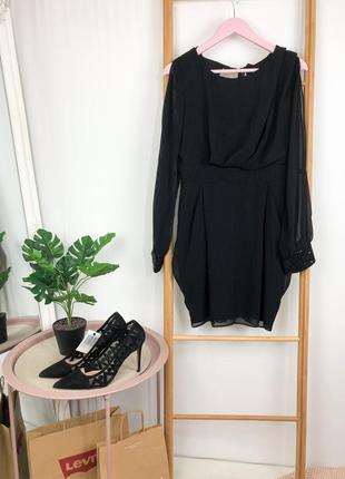 Чёрное платье от river island