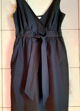Черное платье из натурального хлопка