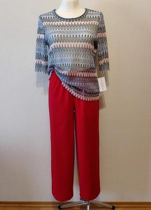 Супер цена до 30.07!!!крутой комплект льняные брюки и кофточка макраме