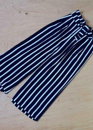 Красивые стильные штаны в полоску zara