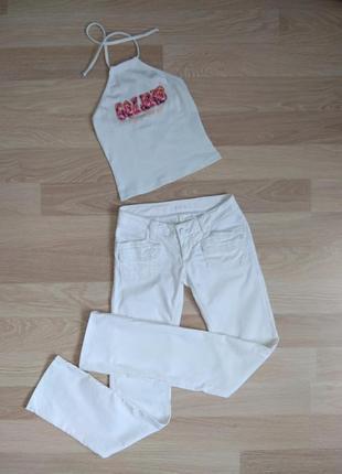 Новые классные белые джинсы colins р. 25 и подарок