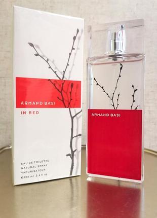 Armand basi in red, edt 100ml, парфюм, духи - освежающий