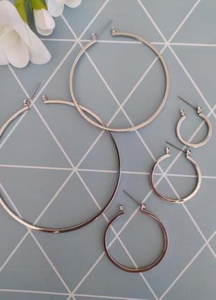 Набір сережок, сережки кільця, серьги кольца от asos