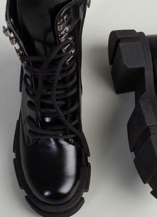 Ботинки зимние деми натуральная кожа в наличии черные2 фото