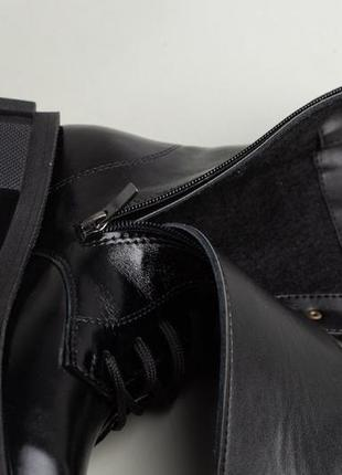 Ботинки зимние деми натуральная кожа в наличии черные3 фото