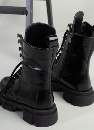 Ботинки зимние деми натуральная кожа в наличии черные4 фото