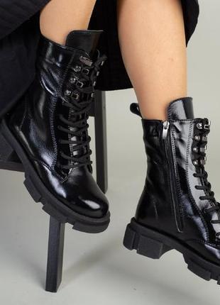 Ботинки зимние деми натуральная кожа в наличии черные8 фото