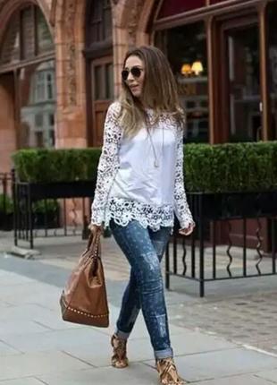 Белоснежное блуза нс