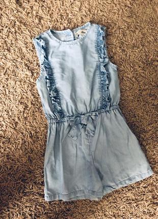 Тоненький джинсовий ромпер комбінезон 5-6 років