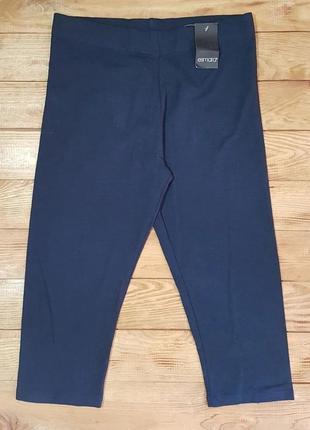 Леггинсы (капри) женские темно-синие, размер m