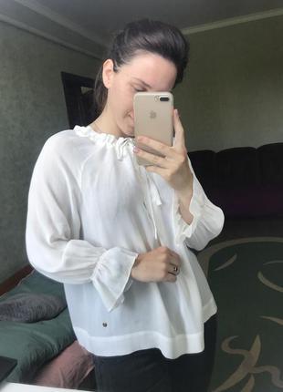 Шифонова молочна блуза