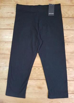Леггинсы (капри) женские черные, размер l