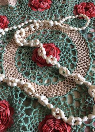 Винтажные бусы ожерелье из ракушек