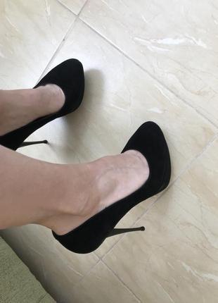 Туфли замшевые р.35