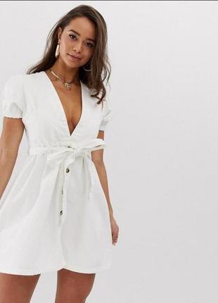 Джинсовое платье boohoo