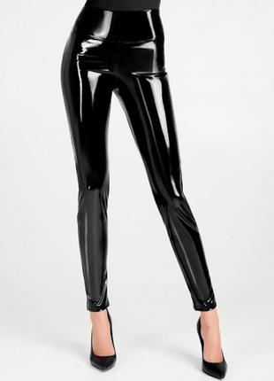 Лаковые леггинсы лосины штаны