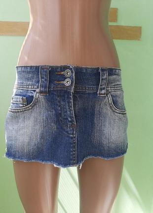 Брендовая крутая очень короткая юбка