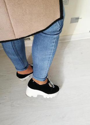 Кожаные ботинки-размер 36