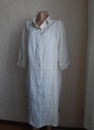 Легкое льняное платье, туника в идеальном состоянии1 фото