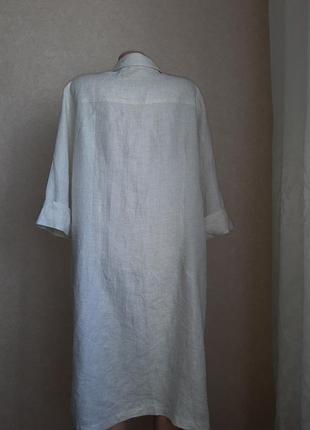 Легкое льняное платье, туника в идеальном состоянии3 фото